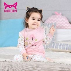 MiiOW - Kids Set: Printed Long-Sleeve T-Shirt + Pants