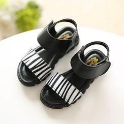 绿豆蛙童鞋 - 小童豹纹印花凉鞋