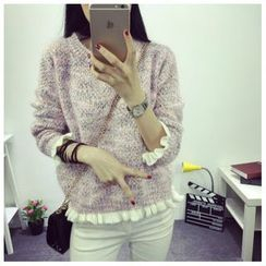 Angel Shine - Ruffled-Trim Knit Sweater
