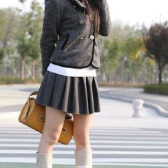 Lacyland - Pleated Woolen Skirt