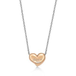 Kenny & co. - IP Rose Gold Share of Love Heart Pendant
