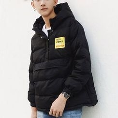 ZZP HOMME - Patch Embroidered Hooded Padded Jacket