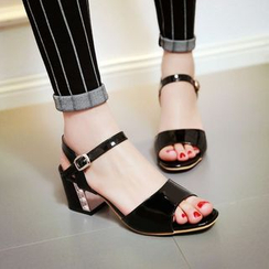 Colorful Shoes - Block Heel Sandals