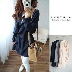 CYNTHIA - Tie-Waist Trench Coat