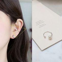 HM - 仿珍珠單邊耳套