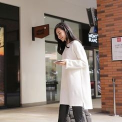 CLICK - Brushed-Fleece Pullover Dress