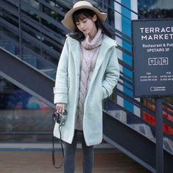 Wind Town - Hooded Buttoned Coat
