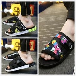 MR.GONG - Plain Slide Sandals