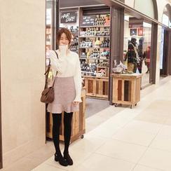 mimi&didi - Ruffle-Hem Tweed Mini Skirt