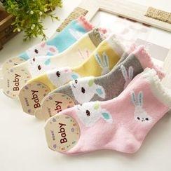 Cuckoo - Kids Rabbit Print Socks