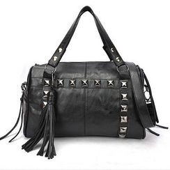 Auree - Tasseled Studded Satchel