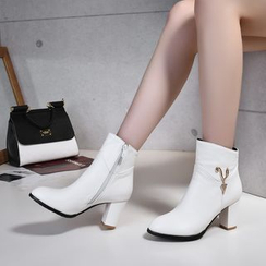 Shoes Galore - Chunky Heel Short Boots