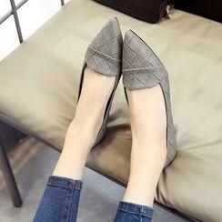 QQ Trend - 編織尖頭平底鞋