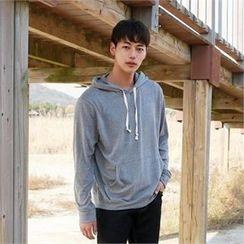BYMONO - Hooded Kangaroo-Pocket Pullover