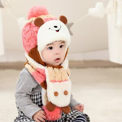 POMME - Kids Set: Beanie + Scarf (Various Designs)