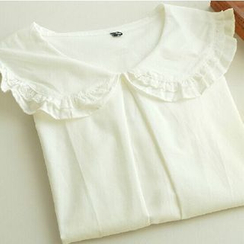 Moricode - Frill Collar Long-Sleeve  Blouse