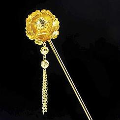 Paparazzi - Flower Dangling Bridal Hair Pin