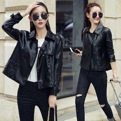 Romantica - Faux-Leather Jacket