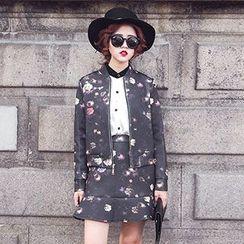 Romantica - Set: Floral Jacket + Skirt