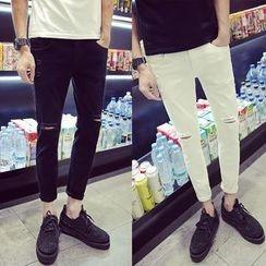 YONDER - Distressed Slim-Fit Cropped Jeans