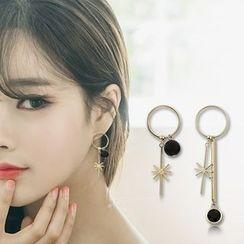 STYLEJING - Beaded Asymmetric Earrings