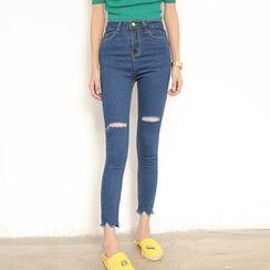 TREEZIN - Cropped Jeans