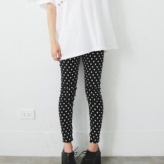 D.P-Shop - Polka-Dot Leggings