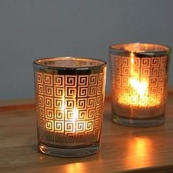 Thula Design - Patterned Glass Candle Holder