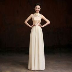 YACCA - Embellished Sleeveless Bridesmaid Dress