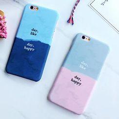 Homap - Letter Colour Block Mobile Case - iPhone 6s / 6s Plus / 5s