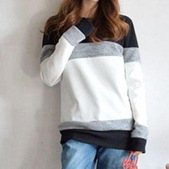 Lina - Long-Sleeve Color Block Pullover