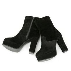 REDOPIN - Faux-Suede Zip-Side Ankle Boots