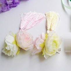 Kiyoha - Ancient Tasseled Flower Hair Clip