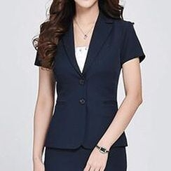 Caroe - Short-Sleeve Slim-Fit Blazer