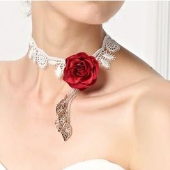 Amina - Rose Accent Bridal Choker