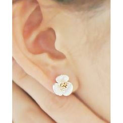 Miss21 Korea - Flower Stud Earrings