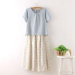 Aigan - 仿两件连衣裙