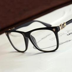 UnaHome Glasses - Cross Accent Square Glasses