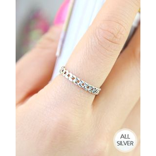 Miss21 Korea - Chain Silver Ring