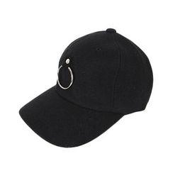 DABAGIRL - Hoop-Accent Ear-Flap Baseball Cap