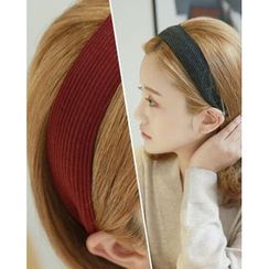 Miss21 Korea - Wide Rib-Knit Hair Band