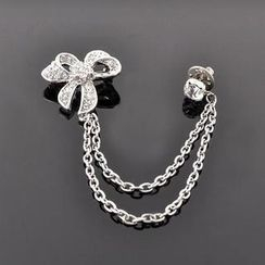 Trend Cool - Rhinestone Bow Brooch