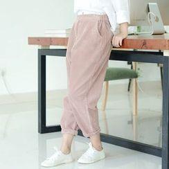 兰芝 - 灯芯绒宽身裤
