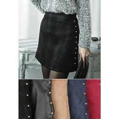 REDOPIN - Metal-Studded Miniskirt
