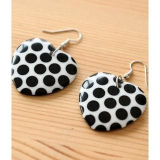 Petit et Belle - Polka Dot Heart Earrings