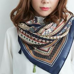 BAIMOMO - 印花圍巾