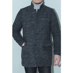 Ohkkage - Wool-Blend Single-Breasted Coat