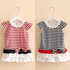 Seashells Kids - Kids Stripe Short-Sleeve Dress