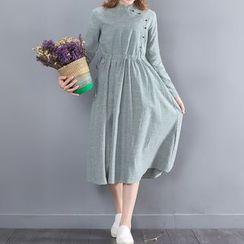 Fancy Show - Long-Sleeve Striped Dress