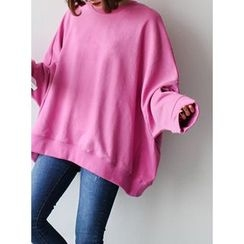 STYLEBYYAM - Loose-Fit Round-Neck Pullover